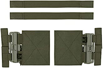 KRYDEX Quick Release Buckle Set,Single Point Molle Quick Disconnect Side Entry Conversion with Hoop and Loop for JPC CPC NCP XPC 420 Vest (Ranger Green)