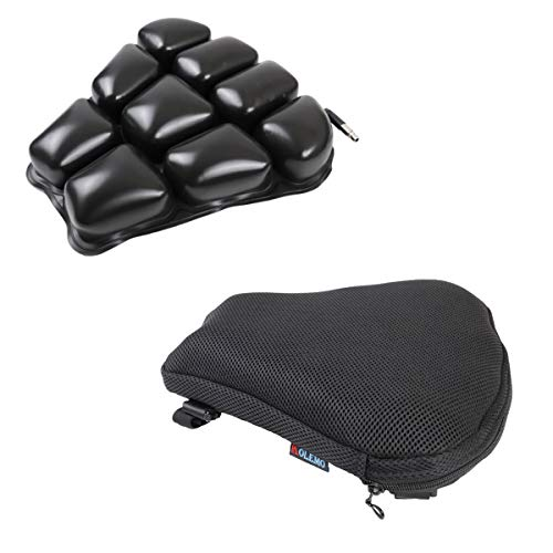 Medium Size Motorcycle Seat Cushion Air Cushion Pad for Comfortable Traveling Pressure Relief for Sport Touring Most Seats 12' x 12'