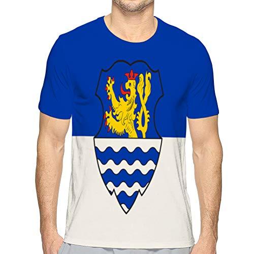 Kurzarm-T-Shirt mit festem Rundhalsausschnitt von wegberg in Nord-Unisex-T-Shirt