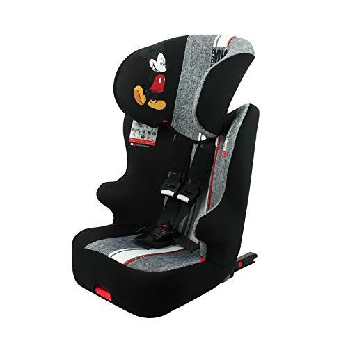 Seggiolino auto NANIA ISOFIX RACER - Gruppo 1/2/3 (9-36kg) con sedile inclinabile - produzione francese 100% - protezioni laterali - Disney First...