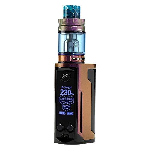 Wismec Reuleaux RX GEN3 Dual Kit 230 W, mit Gnome King Tank 5,8 ml, Durchmesser 26 mm, Riccardo e-Zigarette, gloss purple / brown