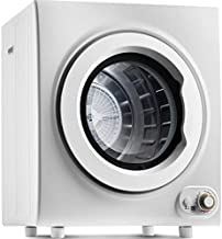 110V Portable Compact Clothes Dryer, 2.65 Cubic feet, 9 LB Capacity Tumble Dryer, 1400W Drying Power, Easy-to-Control Clothes Dryer, 4 Drying Mode Options (White)