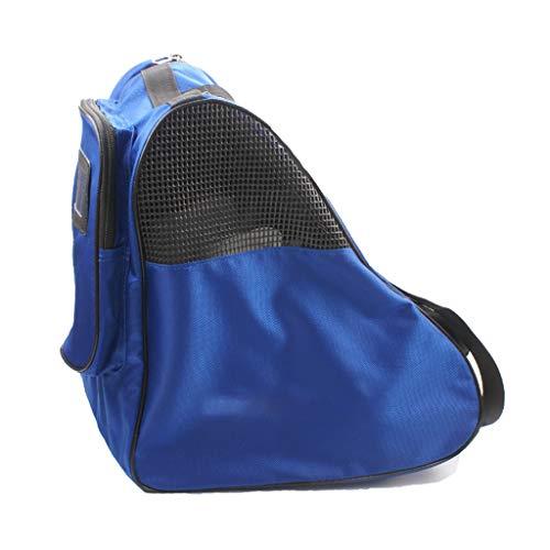 MENG Schlittschuh Tasche, Quad Ice Roller Skates Taschen Inline-Skatetasche, Damen Zahl Skate Tasche Hockey-Skate-Tasche, Schlittschuhlaufen Taschen Skate Rucksack Für Mädchen,Blau