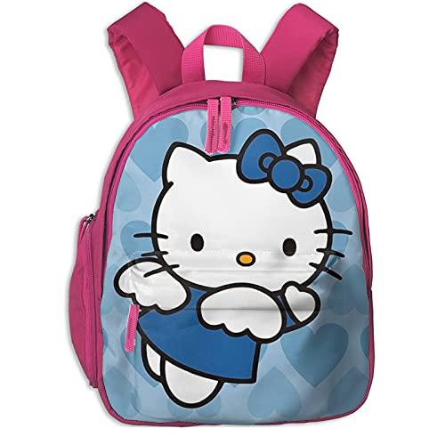 Hello Kitty - Mochila escolar para niñas, tamaño grande, para viajes escolares, color azul