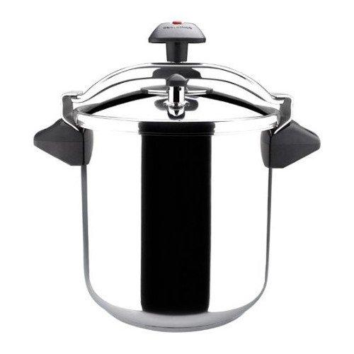 MAGEFESA INOXTAR Olla a presión rápida, Acero Inoxidable 18/10, Apta para Todo Tipo de cocinas, Incluido inducción (8L)