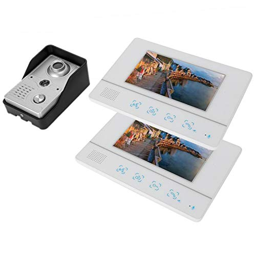 Video Timbre Manos Libres Intercomunicador Villas 2 Monitores(Regulatorio Británico)