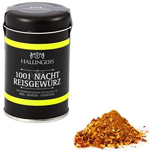 Hallingers Gewürz-Mischung für Reis, Gemüse & Couscous (95g) - 1001 Nacht Reisgewürz (Aromadose) - zu Passt immer