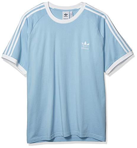 adidas Originals 3-Stripes T-Shirt Camiseta, Cielo Claro, XS para Hombre
