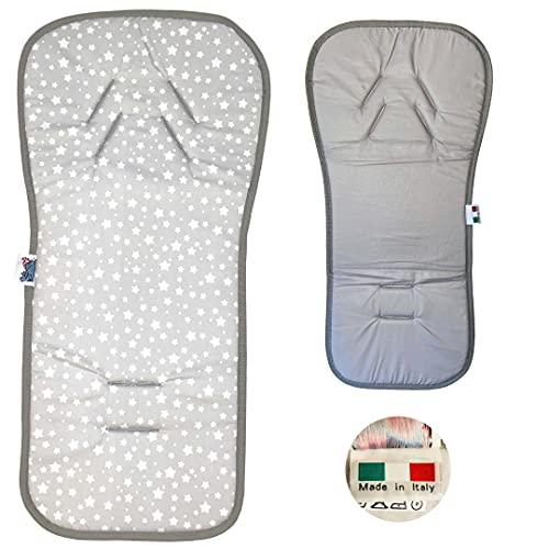 BabyCANGAROO® Cojín Bebe Colchoneta Silla Paseo Universal Transpirable y Asiento de Carro doble lado 100% Algodón