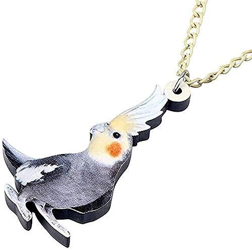 Collar Declaración de moda Acrílico Lindo Cacatúa Collar de pájaro Colgante Gargantilla Collar Moda Animal Joyería para mascotas para mujeres Chica Regalo Joyería Colgante Collar Regalo para hombres M
