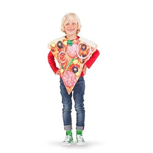 Folat 21909 pizza kostuum kind, uniseks-chiild, meerkleurig, één maat