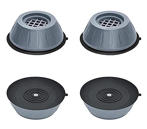 Antivibrationswaschmaschinen-Stützkissen Stoß- und Geräuschunterdrückung Waschmaschinenunterstützung Rutschfeste und geräuschreduzierende Waschmaschinenfüße (1set)