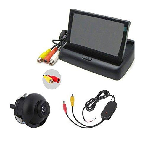 Boomboost 4,3 Pouces Pliable TFT LCD Voiture Inverse + Vue de Nuit Vision arrière Vue Moniteur Ajouter CCD Voiture caméra + récepteur émetteur sans Fil