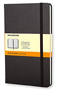 Moleskine Classic Ruled Paper Notebook, Hard Cover and Elastic Closure Journal, Black, Large 13 x 21 A5, 240 Pages (8883701127)   Amazon price tracker / tracking, Amazon price history charts, Amazon price watches, Amazon price drop alerts