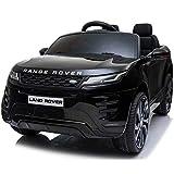 ATAA Range Rover Evoque 12v - Negro - Coche de batería para niños Land Rover Range Rover Evoque con batería 12v