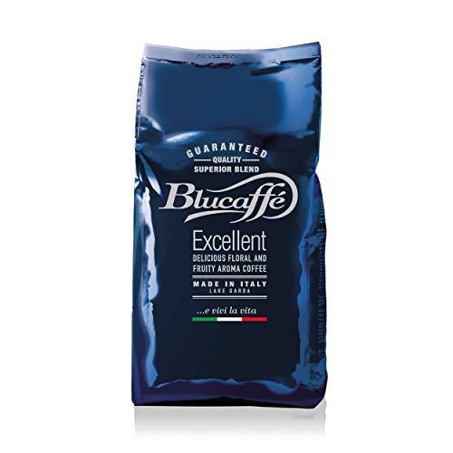 Lucaffé Blucaffè Kaffeebohnen, 700 gr Kaffeebeutel spart Aroma, Gourmet Arabica Kaffeebohnen, fruchtiger Geschmack, mittlere Röstung, mittlerer Körper, intensives Aroma, wenig Koffein
