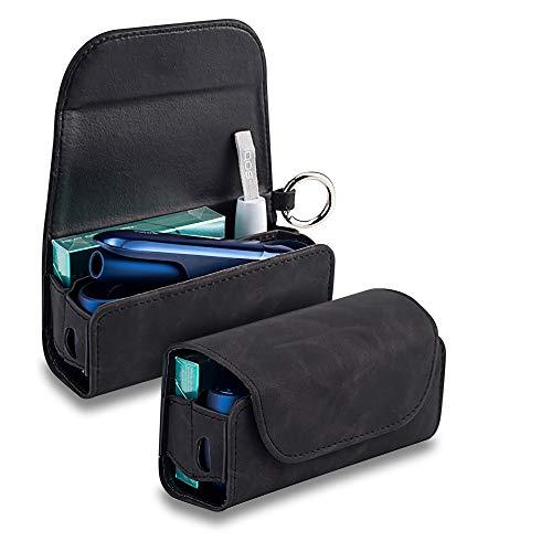 アイコス3ケース iqos3 ケース IQOS3 DUO 専用ケース IQOS3.0 電子たばこ IQOS3 キット 保護ケース 革 カバー レザーケース おしゃれ (ダメージブラック)