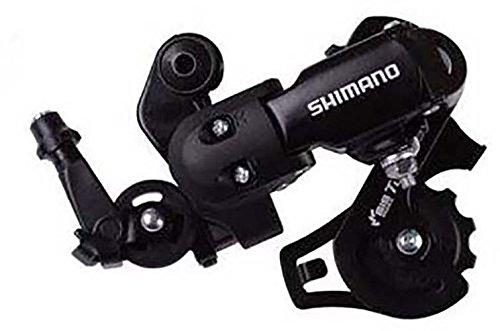 SHIMANO, Deragliatore Posteriore, 6/7 velocità, Montaggio rapido RD-FT35, Nero (Schwarz - Schwarz)