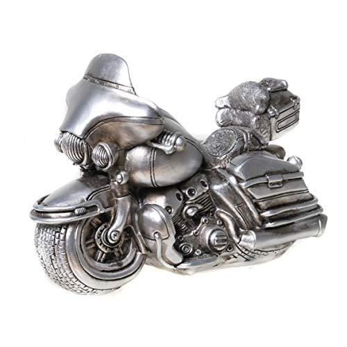 UDO Schmidt 89237 Spaarpot Motorfiets Bike Antiek Zilver Spaarvarken Shopper