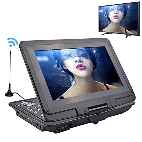 HARMON Portable Dvd Players Car TV 13.9 Inch Big Players LCD Screen for Game FM DVD VCD CD MP3 MP4 with Gamepad TV Antenna,Black