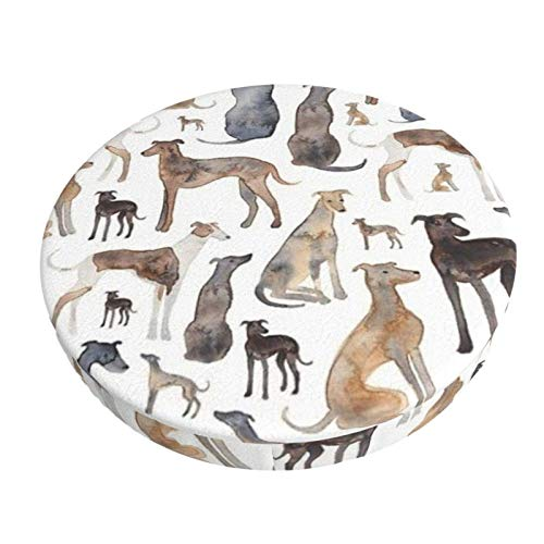 Round Bar Stools Cover,Windhunde Wippets Und Lurcher Hunde,Stretch Chair Seat Bar Stool Cover Seat Cushion Slipcovers Chair Cushion Cover Round Lift Chair Stool