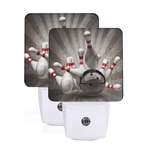 2 paket auto nachtlicht bowling ball unterhaltung sport auto dämmerung sensor lampe stecker nachtlicht für flur schlafzimmer treppen korridor wohnkultur