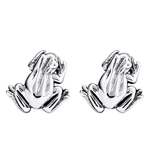 XINTIAN Stud Earrings 2021 New 925 Silver Fashion Frog Earrings Women's Personality Retro Animal Earrings Simple Lovely Accessories Birthday Gift