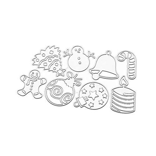 Gekai Emporte-pièces en métal pour biscuits de Noël en acier inoxydable