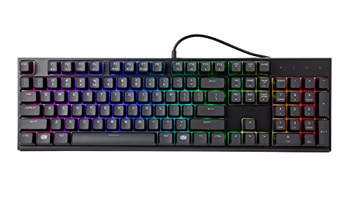 Cooler Master MasterSet MS121 Gaming RGB Keyboard & Mouse, Clicky Mem-chanical Switches, Precision Pixart Sensor with Omron Mouse Switches & On-The-Fly DPI Settings