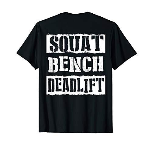 LegEnd: SQUAT-BENCH-DEADLIFT back designed T-Shirt