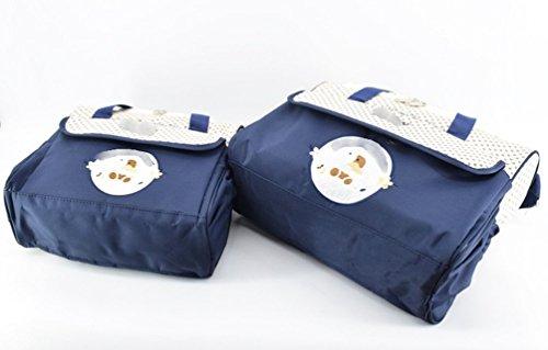 Azul, Talla /única Jitong Set de 5 Piezas Bolsos Cambiadores//Bordado Mam/á Bolsa de Hombro//Pa/ñales Cambio Beb/é//Bolsa Termica para Biberones