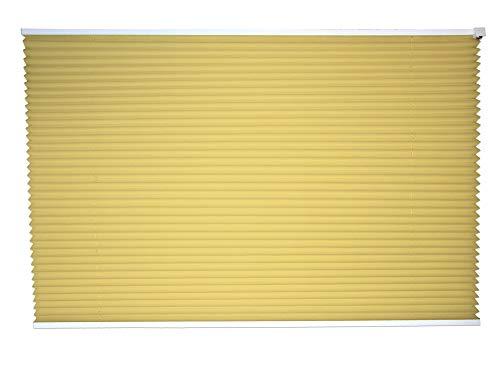 Maron Plissee SIMPLEX Falt-Rollo 100 x 160 cm, gelb