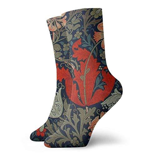 FLNUMDUXG William Morris Compton Kompressionssocken, Svetlana Novikova, athletische lange Crew-Socken für Männer und Frauen, 30 cm
