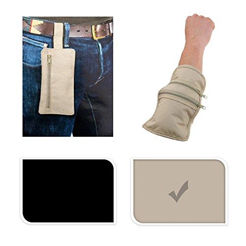 Trendfinding Reisedokumententasche 2er Set, Armtasche und Gürteltasche, beige