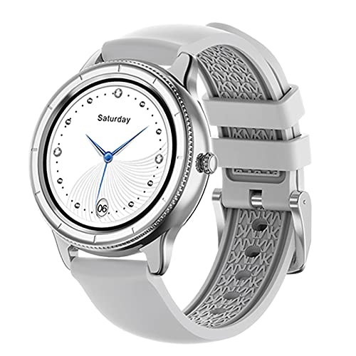 2021 Vollzureisch Smart Watch Herren- und Damen-Smart-Uhr-Informationen Sports Smart Watch Fitness Wetter Push für iOS Android,D