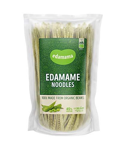 Edamama - Low-Carb High-Protein Pasta aus 100% Bio-Bohnen - Edamame Noodles Nudeln - Bio, Vegan, Glutenfrei, 43% Protein (6 x 200g)