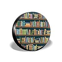 カートゥーンライブラリの本棚、パーソナライズされたスタイリッシュなユニバーサルスペアタイヤカバー(14、15、16、17インチ)