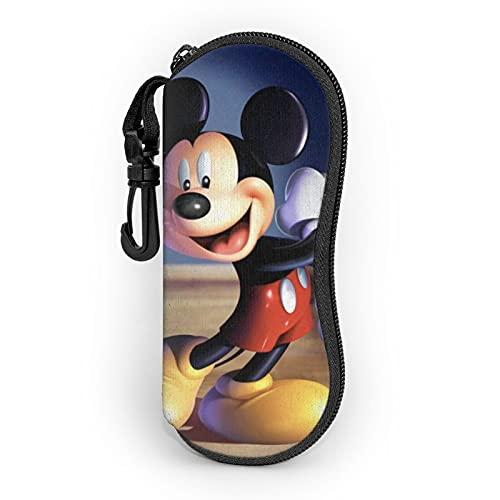 Mickey Cartoon Mouse Ultra-ligero portátil neopreno con cremallera duro Shell gafas caso con mosquetón gafas de sol caso para hombres y mujeres