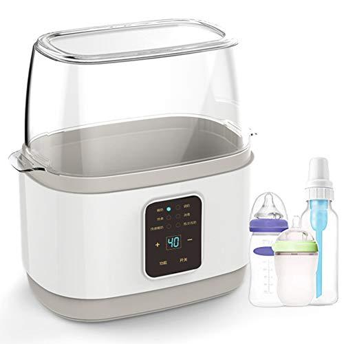 MEILINL Dampfsterilisator Baby Sterilisator Flaschenwärmer 2 in 1 Doppel Flaschen, Genaue Temperaturregelung, Konstante Betrieb, LCD-Anzeige Passend Für Alle Babyflaschen, BPA Frei