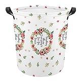 Something tells me dice pañales de tela Oxford cesta de lavandería, bolsa grande de lavandería, cesta de lavandería, 42 x 44 cm