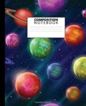 Composition Notebook: Fantastic Planets and Moons Wide Lined Blank Journal for School and College | Nifty Galaxy Blank Wide Ruled Notebook for Notes and Writing for Students and Kids.