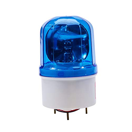 Othmro Warning Light Bulb Industrial Signal Tower Lamp Flashing No Sound 220V Blue LTE1101 1pcs