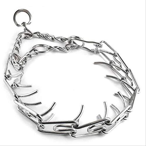 Adjustable Pet Dog Metal Pinch Chain Collar Prong Pet Collars Dog Necklace...