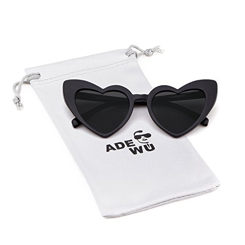 ADEWU Herzform Sonnenbrille Mode Retro Brille Damen Frauen