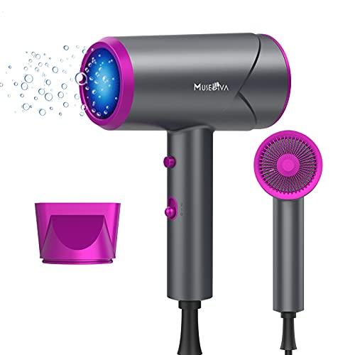 Sèche-cheveux, sèche-cheveux ionique 1800W pour un séchage rapide, sèche-cheveux léger à ions négatifs avec bouton de chauffage refroidissement pour enfant enceinte