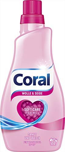 Coral Flüssigwaschmittel Wolle & Seide flüssig, 2er Pack (2 x 22 WL)