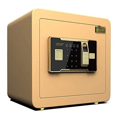 Cajas fuertes, 30 cm de seguridad mediana, 60 minutos, resistente al fuego, para el hogar, caja de dinero oculta junto a la cama, caja de bloqueo universal, antirrobo de acero, contraseña pequeña par