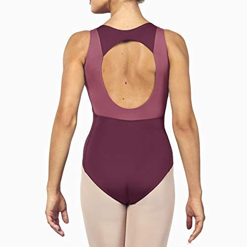 Bloch Trikot - ESRAH ohne Arm, 2 Farben vorn + hinten Dewberry M