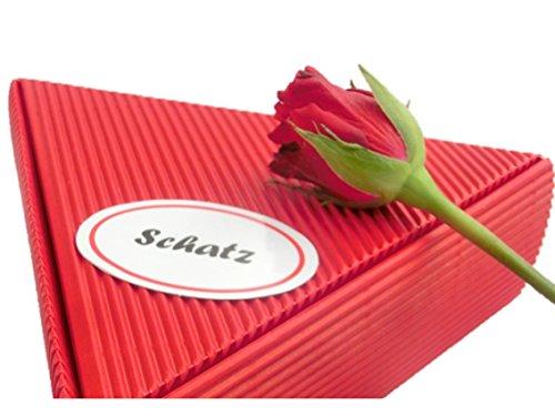 Geschenk Schatz - Rosen- und Frucht Frühstückspaket 6 x 50g | gut als romantisches Geschenk zum Hochzeitstag oder Geschenke für Verliebte mit Liebe, Geschenk Frau, Freundin, Verlobte, Geschenke Mann, Mann 60, als dankeschön, chefin, danke, essen, gut