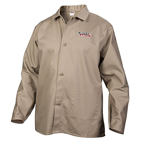 Lincoln Electric - KH840XL Khaki X-Large Flame-Resistant Cloth Welding Jacket